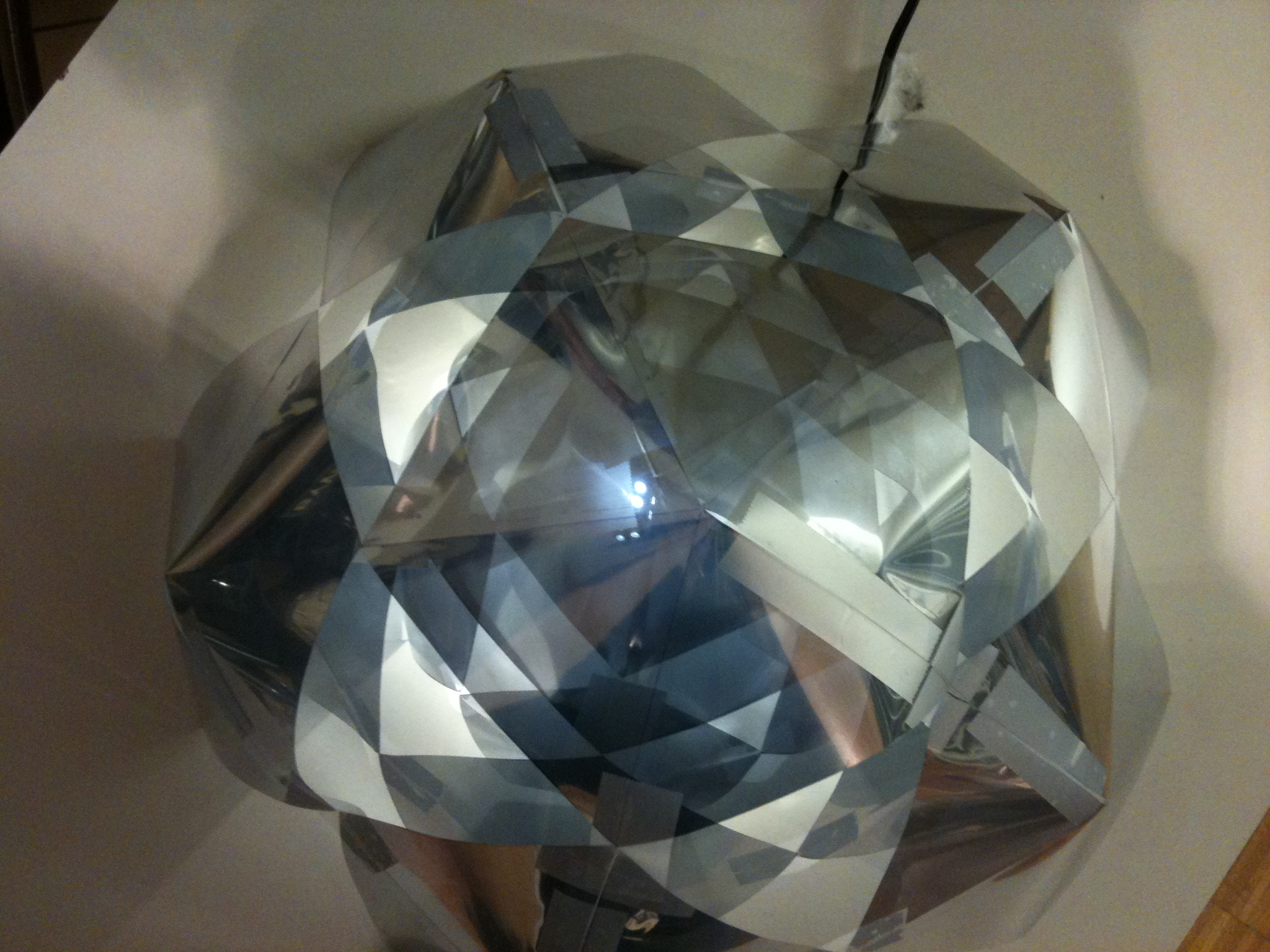 Maquette for two way mirror geodesic dome sam walker for Two way mirror